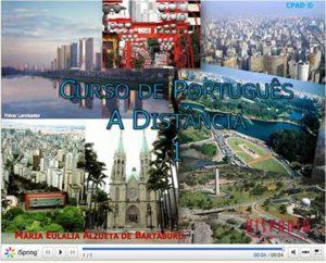 curso de português presencial e a distância online